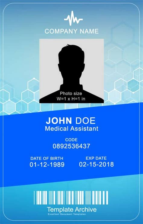 id card template 16 id badge id card templates free template archive