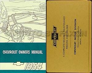 1954 Chevrolet Car Reprint Owner U0026 39 S Manual Package