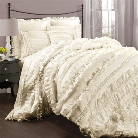 ivory comforter set king shop lush decor 4 ivory king comforter set at lowes