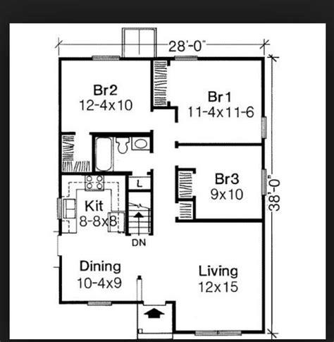 Like this simple floor plan Bedroom house plans House