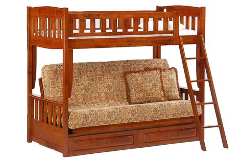 futon bunk bed futon bunk bed cherry cinnamon bunk the