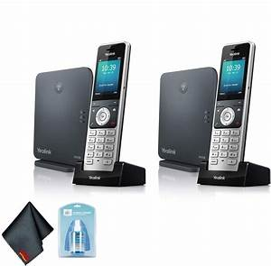 Yealink W60p Wireless Dect Ip Cordless Phone 2 Pack