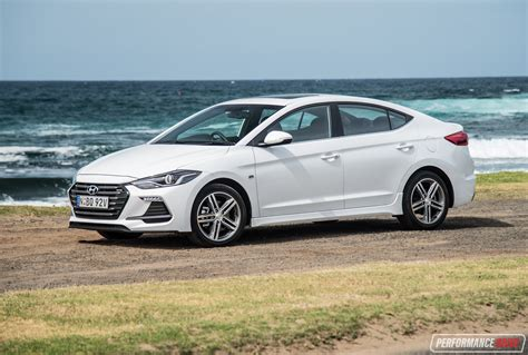 White Hyundai Elantra 2017 hyundai elantra sr turbo review manual dct auto
