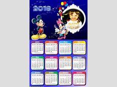 Calendário 2018 Mickey Minnie Montagem para Fotos