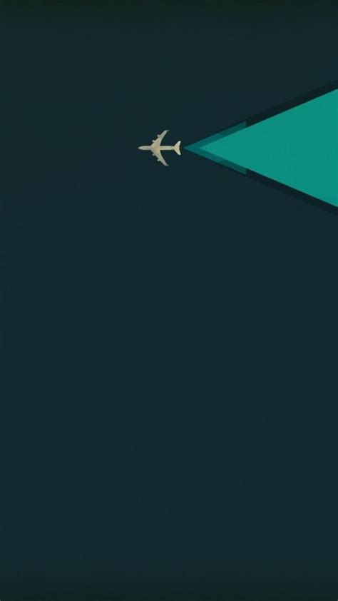 Iphone X Screensaver 4k Minimalism Airplane Iphone