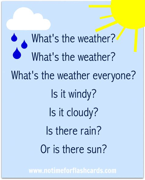 preschool weather song free printable lyrics jan skies 133 | 065ad4efa88a6a5a038774e461040671