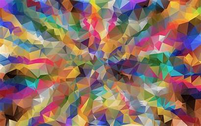 Poly Low Polygon Background Colorful Wallpapers Psychedelic