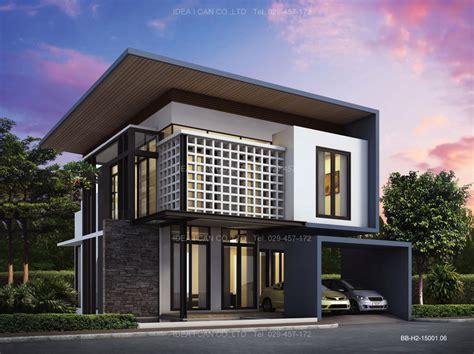 BB-H2-15001.06 แบบบ้านสองชั้น 3 ห้องนอน 2 ห้องน้ำ พื้นที่ใช้สอย 150 ตร.ม. modern style ...