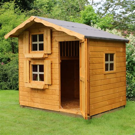 cottage playhouse 7 x 5 wooden cottage playhouse storey shedsfirst
