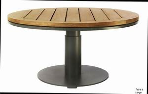 Table De Jardin En Bois Pas Cher : table ronde jardin mc immo ~ Teatrodelosmanantiales.com Idées de Décoration