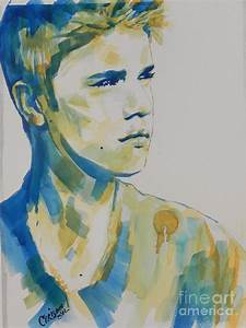 Justin Bieber Painting by Chrisann Ellis