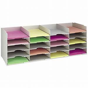 Trieur Papier Bureau : casier trieur courrier et papier a4 20 compartiments gris largeur 90 cm staples ~ Teatrodelosmanantiales.com Idées de Décoration