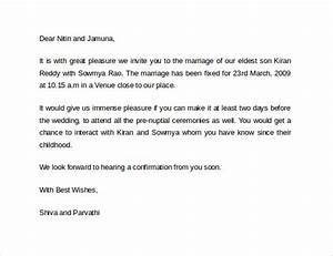 official marriage invitation letter format gallery image With wedding invitations letter to boss