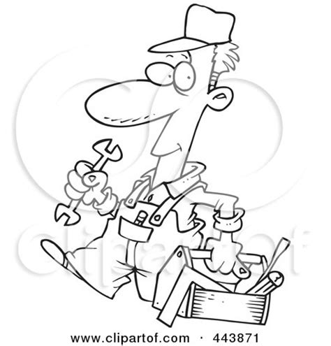 fix clipart black and white royalty free rf clip illustration of a