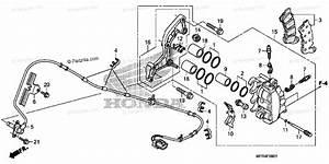 Honda Motorcycle 2010 Oem Parts Diagram For Front Brake