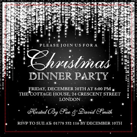 Elegant Christmas Party Invitation Template Sample