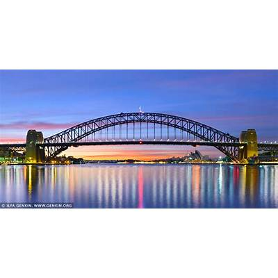 Sydney Harbour Bridge before Sunrise ImageFine Art