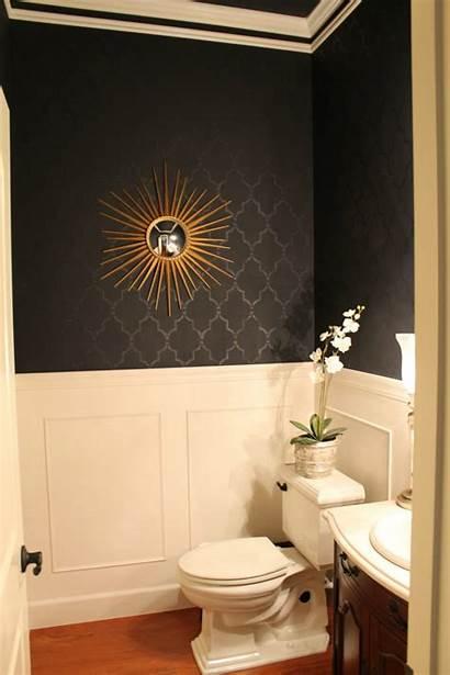 Powder Bathroom Wainscoting Gold Cool Wall Walls