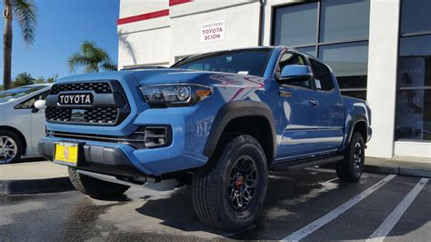 cavalry blue stop   dealership today toyota tacoma