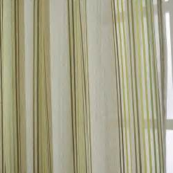 Taffeta Curtain by Leyden Rod Pocket Neoclassical Green And Yellow Stripes