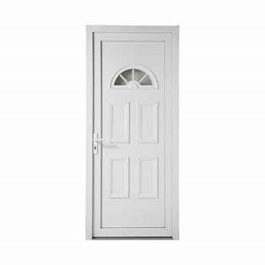 porte d39entree pvc geom 1 2 lune 80 x h215 cm poussant With porte d entrée pvc avec meuble sous plan de travail salle de bain