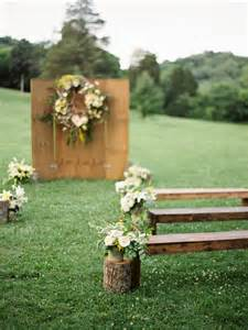 log wedding 30 diy wedding arbors altars aisles diy