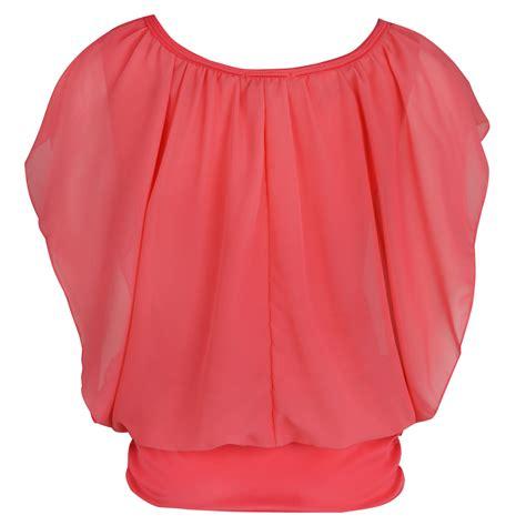 summer blouse womens chiffon top summer plain sleeve