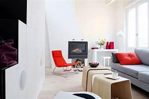 conseil idee deco salon gris et rouge With deco gris et rouge salon