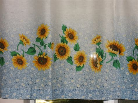 white kitchen curtains with sunflowers sunflower kitchen decor ideas for modern homes