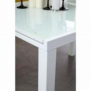 Table Blanc Laqué Extensible Ikea : table extensible blanc maison design ~ Nature-et-papiers.com Idées de Décoration