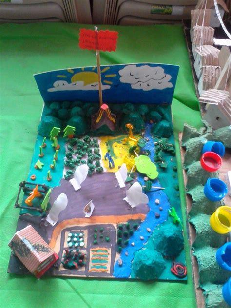 imagenes de maquetas con material de reciclaje sobre el ambiente imagenes de maquetas con
