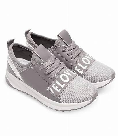 Buty Sportowe Damskie Ideal Szare Aby Powiększyć