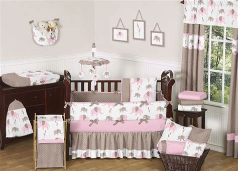 baby elephant crib bedding unique pink and brown mod elephant designer baby