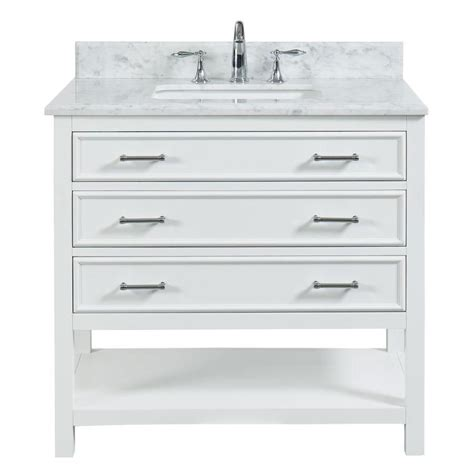 allen roth presnell dove white single sink vanity with