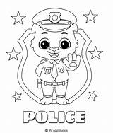 Coloring Police Printable sketch template