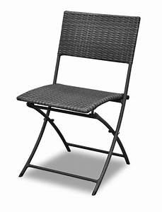 Chaise En Résine Tressée : chaise en r sine tress e proloisirs chaise pliable dolly proloisirs coloris gris ice ~ Dallasstarsshop.com Idées de Décoration