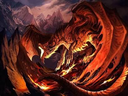 Dragon Fantasy Fire Drake Bad Roaring Wallpapers