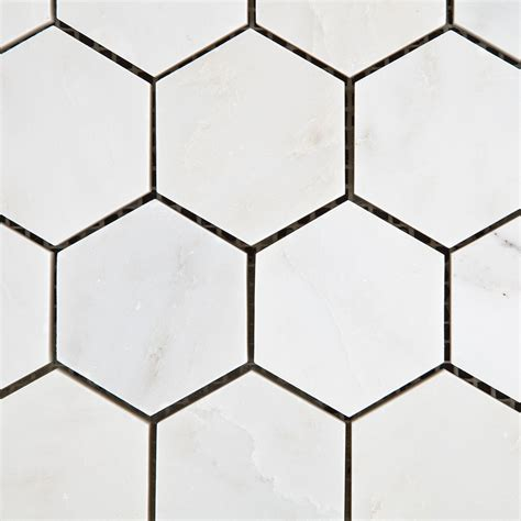 daltile bath accessories eastern white marble 2 quot hexagon honed mosaic tiles