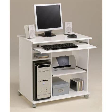ordinateur de bureau a monter sois meme city bureau informatique classique blanc mat l 76 cm