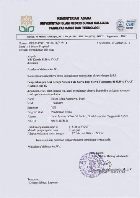 contoh surat balasan ijin penelitian skripsi dari