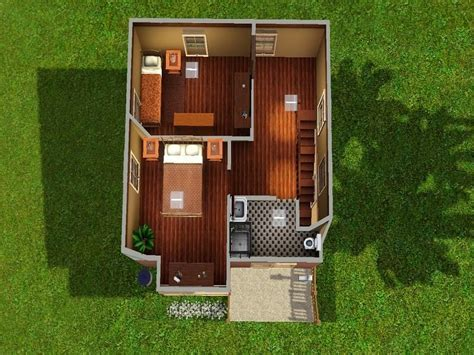 MahalaF's 10x10 2 Bedroom Starter House