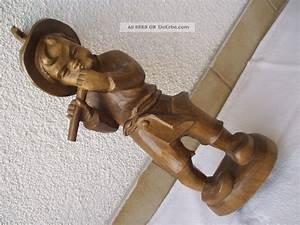 Antike Esstische Holz : antike gro e originale aus holz geschnitzte figur der fl tenspieler junge ~ Michelbontemps.com Haus und Dekorationen