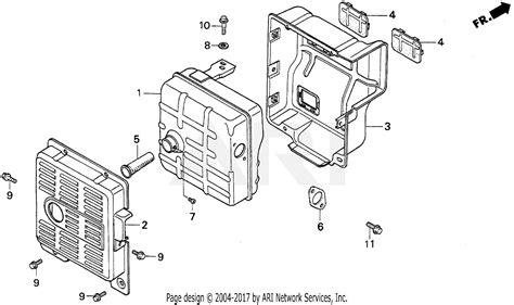 honda eb5000x a generator jpn vin ea7 3000001 parts diagram for em eb muffler