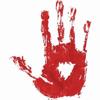 Blood Transparent Bloody Hands Handprint Halloween Clipart