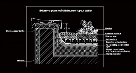 green roof detail dwg detail  autocad designs cad