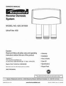 Kenmore Water System 625 38156 User Guide