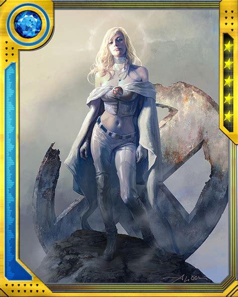 emma frost cards  marvel war  heroes