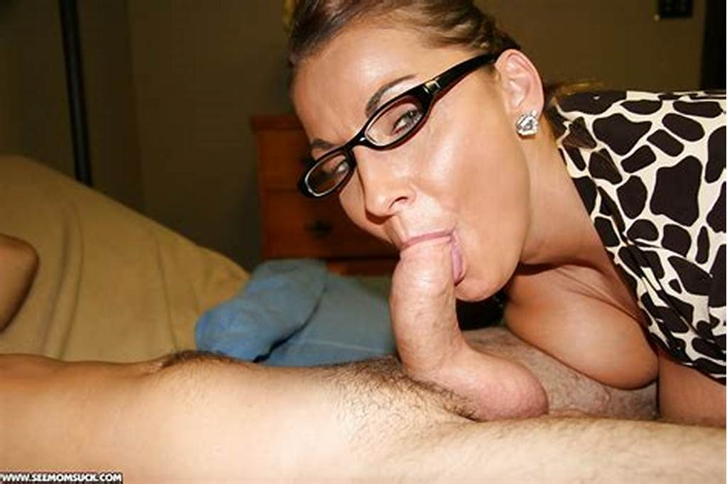 #Naughty #Mature #Lady #In #Glasses #Gives #A #Deepthroat #Blowjob