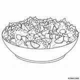 Salad Coloring Insalata Greek Proper Horiatiki Nutrition Colorare Libro Raster Alimento Dell Greca Oggetto Vector Kleurend Boek Adeguata Nutrizione Object sketch template