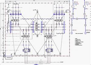 Design Of 33kv Switchyard  Equipment  Sld  And Layout  For